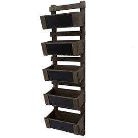 meuble a legumes pour cuisine meuble etagère style echelle à casier ardoise en bois 5