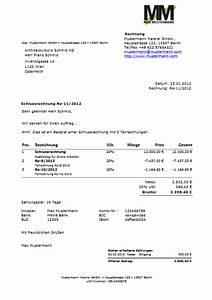 Rechnung Bilder : bersicht rechnung und muster von easyfirma ~ Themetempest.com Abrechnung