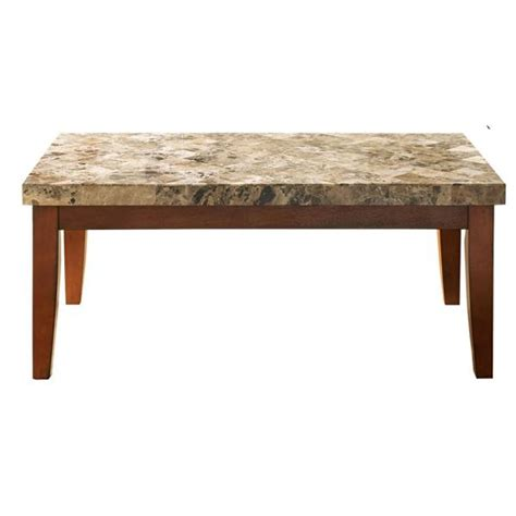 Cade frame coffee table allmodern table base color: Unbranded Montibello Spanish Brown Marble Cocktail Table-MN700C - The Home Depot