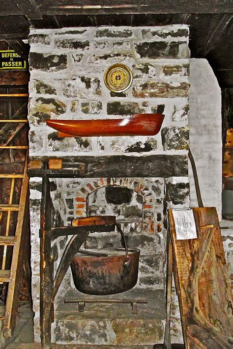 boathouse fireplace  soap making kettle  saint