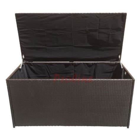 large 64 wicker pillow cushion storage box chest trunk