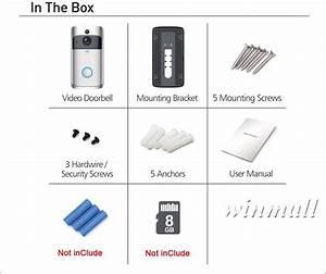 Dhl Eken Video Doorbell V5 Smart Home Door Bell Chime 720p