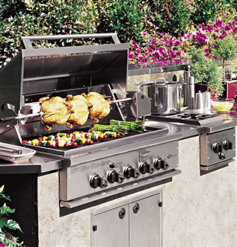 ge monogram  outdoor cooking center   grill