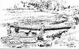 Dock Fishing Drawing K20 Pen Landscape Garr Michael Absolutearts Artist Close sketch template