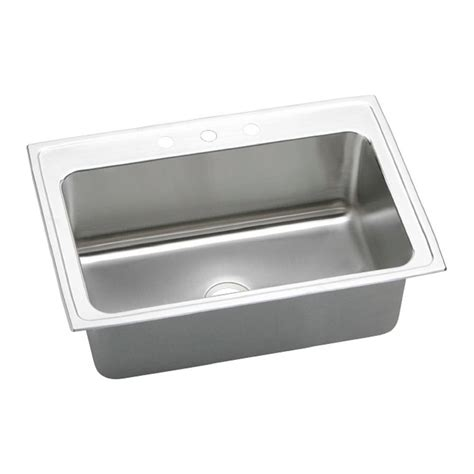 stainless steel sinks kitchen elkay lustertone drop in stainless steel 33 in 3 5736