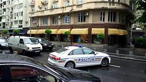 Audi A4 Al Politiei  In Fruntea Unei Coloane Oficiale In Bucuresti