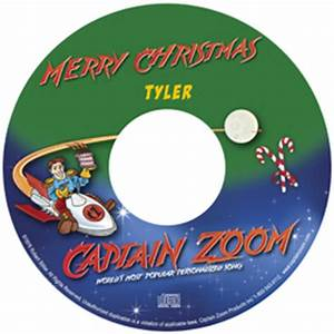 Captain Zoom's Christmas Song Personalized CD