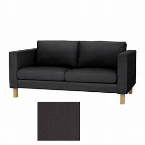 ikea karlstad 2 seat sofa slipcover loveseat cover sivik With karlstad sectional sofa covers