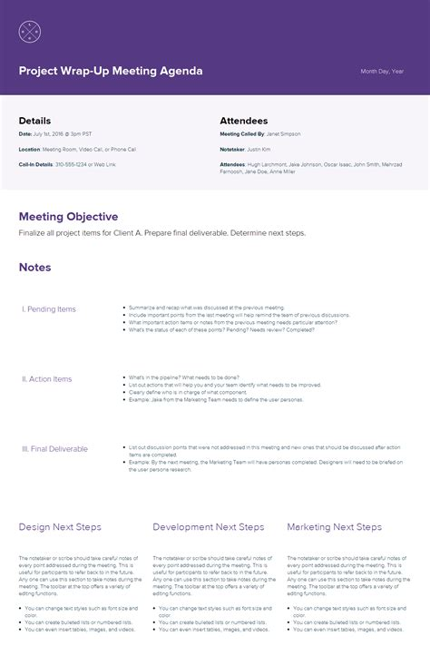 meeting itinerary how to create a meeting agenda xtensio