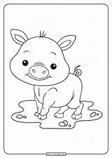 Coloring Pig Pages Cute Baby Printable Whatsapp Tweet Email sketch template