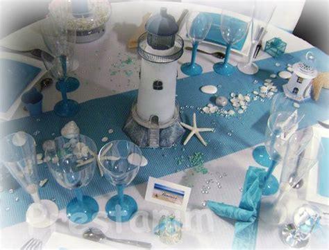 decoration de table mariage bapt 234 me ou anniversaire sur le th 232 me turquoise blanc marin et mer