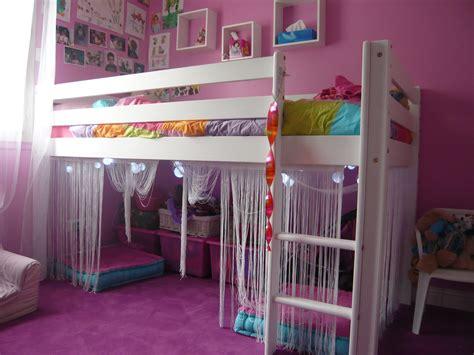 chambre fille lit mezzanine chambre enfant nos rénos décos
