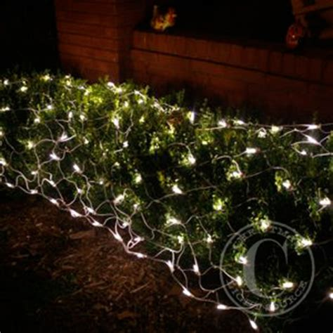 how to attach net lights to hedges warm white led net lights on white wire