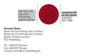 design hausnummer visitenkarten service universität heidelberg