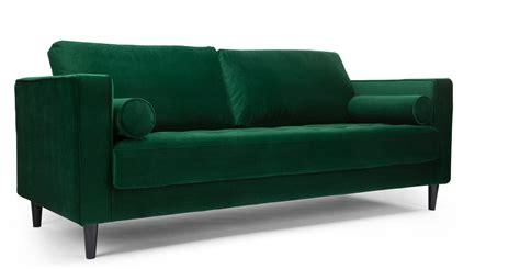 canapé velour canapé design en velours vert canapé 3 places