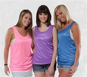 Wholesale direct reversible mesh neon tank tops in womens