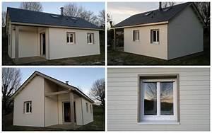 maison bois traditionnelle avec bardage peint en blanc With maison en bois peinte