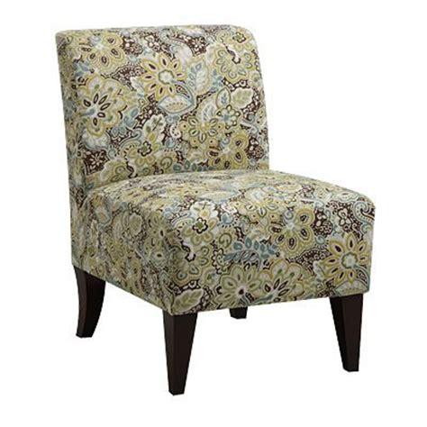 armless accent chair kinsey peacock mi casa