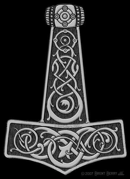Thor's Hammer   Mixing Mythology   Viking tattoos, Norse tattoo, Thor hammer tattoo