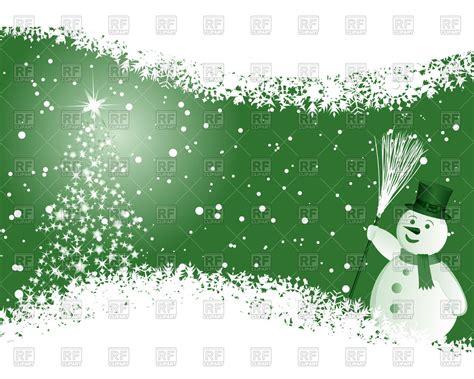 green christmas background  snowflakes  snowman