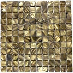 Mosaique Pour Salle De Bain : carrelage mosaique de nacre pour sol et mur nac marron ~ Premium-room.com Idées de Décoration