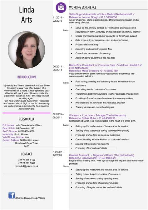 unique curriculum vitae english template