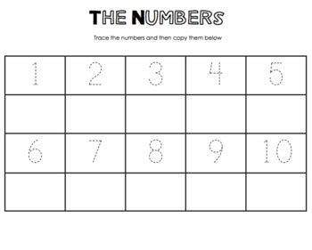 numbers tracing worksheet   cappuccino teachers