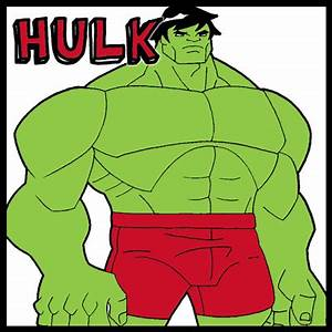 How to Draw Retro Hulk from Marvel Comics with Easy Step ...