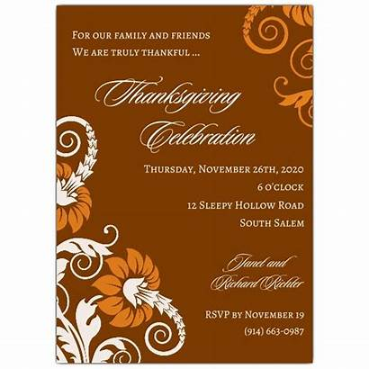 Thanksgiving Invitations Invitation Wording Arabesque Dinner Holiday