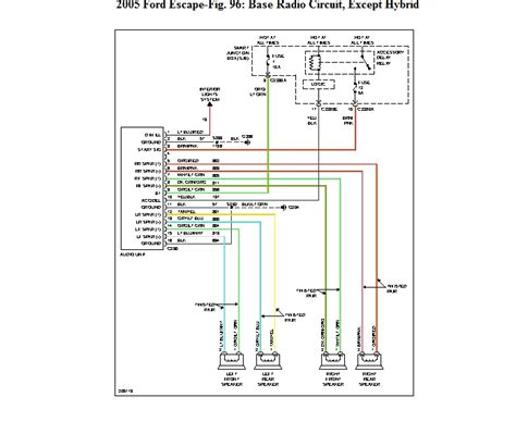 2003 ford escape radio wiring diagram stereo wiring
