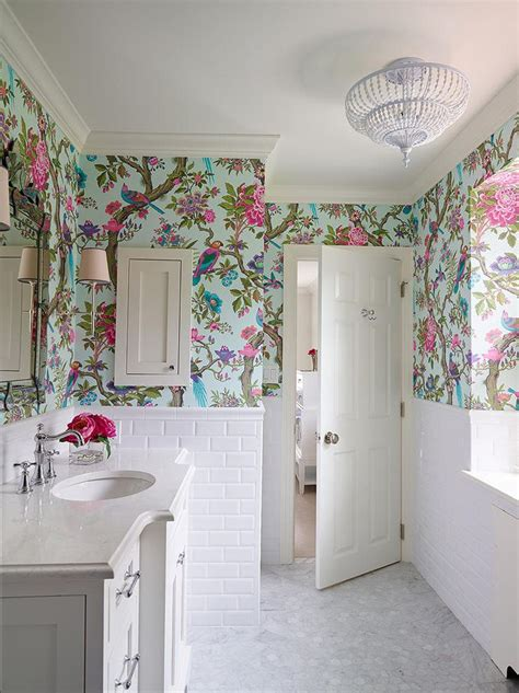 Designer Bathroom Wallpaper by 10 Bathroom Wallpaper Designs Bathroom Designs Design