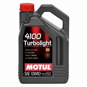 Quantité Huile Moteur : huile moteur huile moteur motul 4100 turbolight 10w40 ~ Gottalentnigeria.com Avis de Voitures