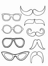 Coloring Mustache Eyeglasses Pair Glasses Colouring Sun Sheets Mermaid Dog Kidsplaycolor Horse Adults sketch template