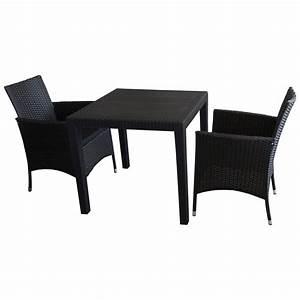 Bistrotisch Und Stühle : gartenm bel set rattan grau ~ Michelbontemps.com Haus und Dekorationen