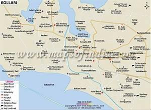 City Map Of Kollam In 2019