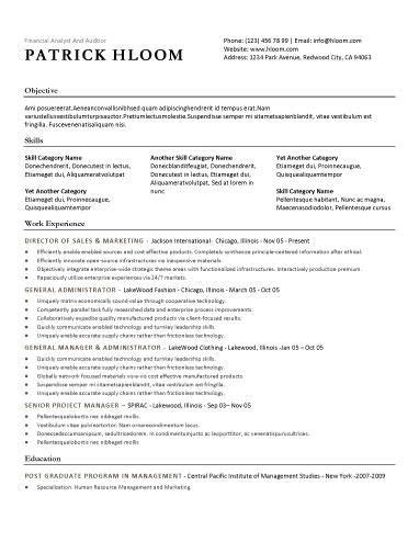 free resume template traditional template style with