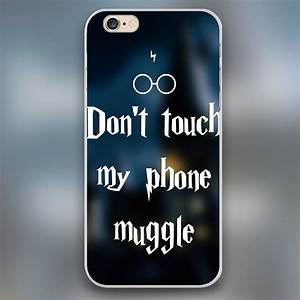 Don't touch my phone muggle Harry Potter Design black skin ...