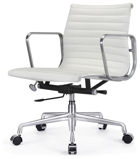 m341 eames style aluminum office chair in white