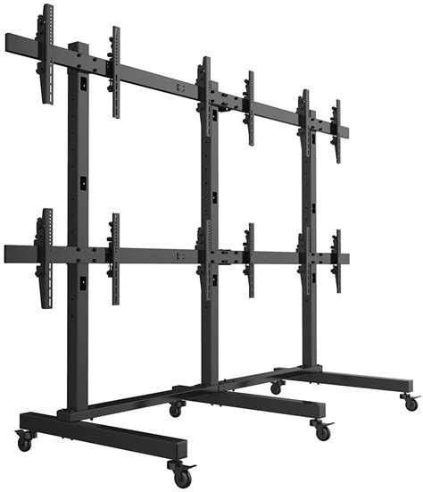 Fw Stands For freestanding monitor wall rolling 6 screen display stand