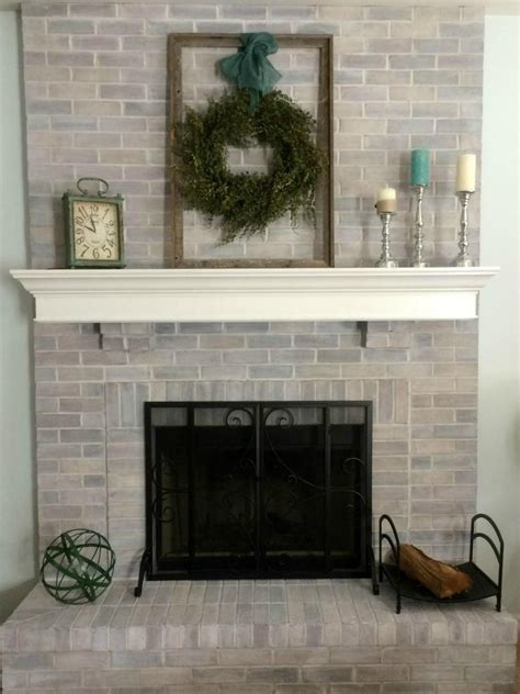 sponge painting brick fireplace 15 fireplace remodel ideas for any budget sanding