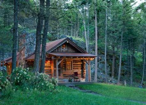 small log cabin simply serene