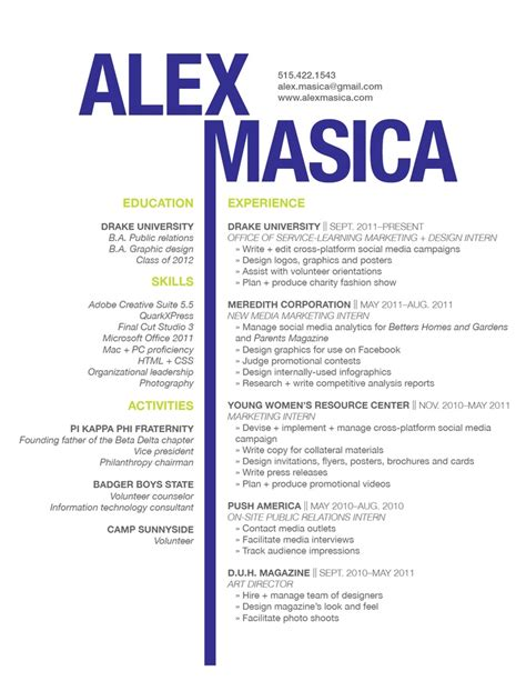 Resume Design graphic design resume sles sle resumes