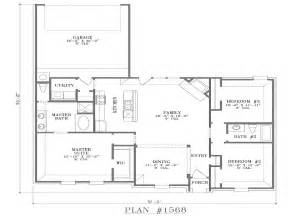 single story house plans without garage modern open floor plans single story open floor plans with
