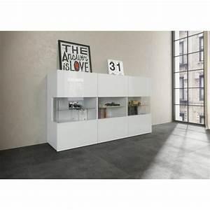 Buffet 150 Cm : new kiss buffet 150cm laqu blanc achat vente buffet pas cher couleur et ~ Indierocktalk.com Haus und Dekorationen