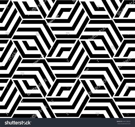 Abstract Geometric Pattern Lines Rhombuses Seamless Stock