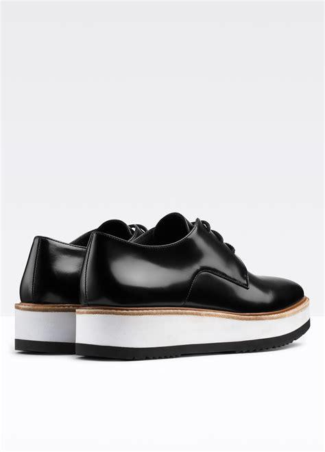 platform leather sneakers vince reed platform leather loafer in black lyst