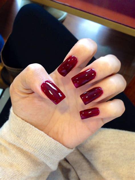 long burgundy acrylic square nails nails pinterest