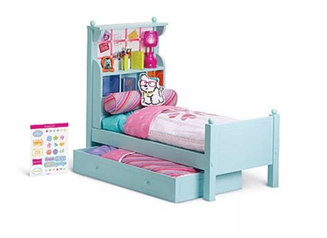 american girl doll bouquet wood trundle bed set bedding
