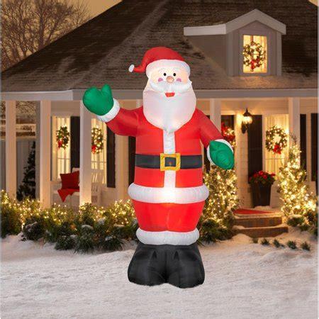 tall airblown christmas inflatable santa walmartcom