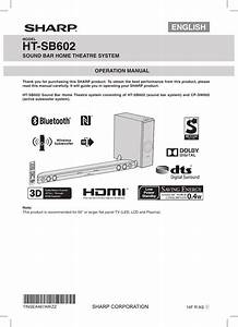 Sharp Ht Sb602 Htsb602 User Manual To The C5be09d7 A559